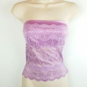 Bebe Lavender Purple Lacey Bandeau Cami Bralette